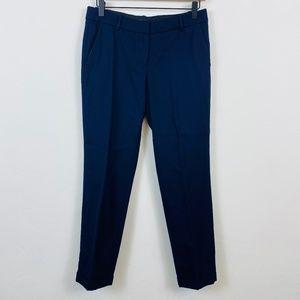 J. Crew Cafe Capri City Blue Cropped Trouser Pants